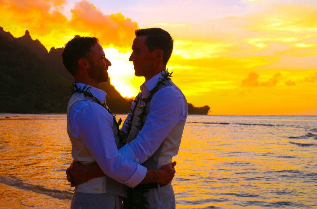 Tunnels Beach, Kauai: Matt & Ryan (Featured Wedding)