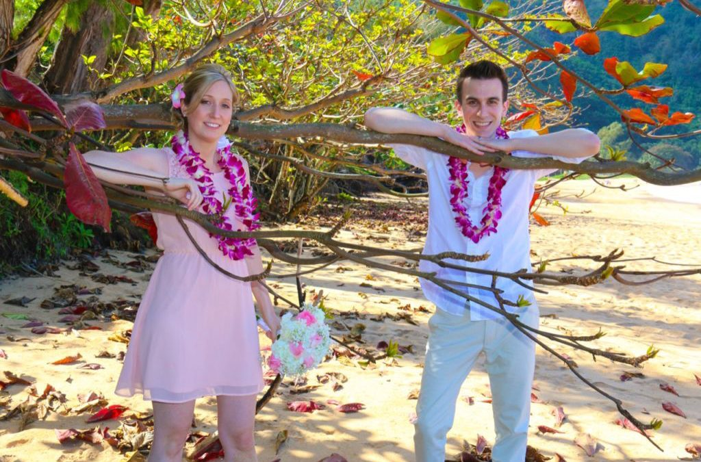 Swiss Couple Gets Married on Kauai: Sandra and Patrick (Featured Wedding)